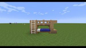 TUTO:Comment faire un lit superposé dans Minecraft 🛌🛌